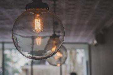 תכנית לעיצוב הבית עם גופי תאורה